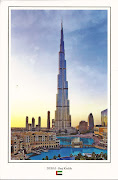 Burj Khalifa is a skyscraper in Dubai, United Arab Emirates, . (uae )