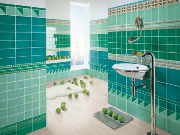 Popular Best Ideas About Green Bathrooms On Green Bathroom Grean Flor In