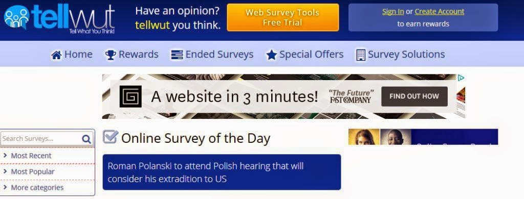 Tell Wut survey online