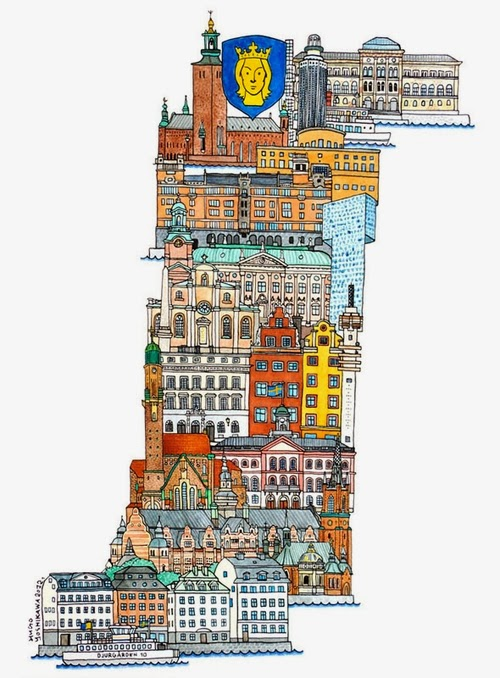 19-S-Stockholm-Sweden-Hugo-Yoshikawa-Illustrated-Architectural-Alphabet-City-Typography-www-designstack-co