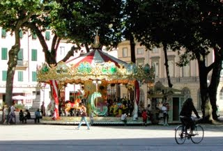 A carousel in Lucca