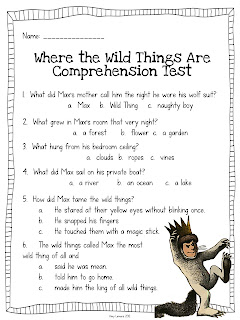 where the wild things are worksheets pdf