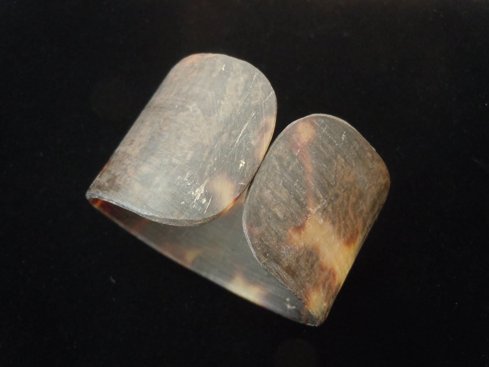 Virgotraders jewelry blog wide tortoise shell cuff bracelet for Real tortoise shell jewelry