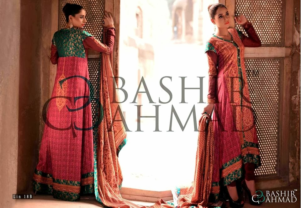 BashirAhmedLinen2013 14 wwwfashionhuntworldblogspotcom 001 - Bashir Ahmed Linen Dresses 2013 / 2014