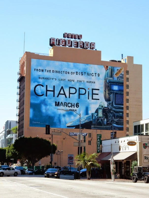 Chappie movie billboard Downtown LA