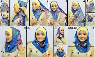 Cara-memakai-Jilbab-kreasi-segi-empat