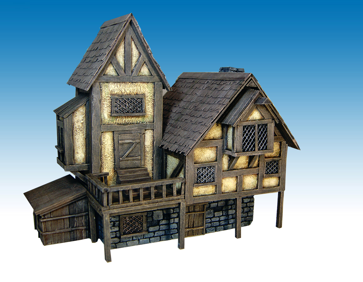 Miniature warfare medieval house nr 2 finished for House build