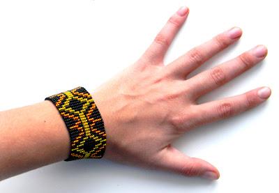 beadwork bracelet beaded jewelry loom beading handmade
