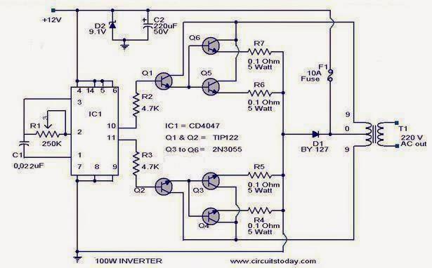 How to Make a 200 Watt Transformerless Inverter Circuit Circuit