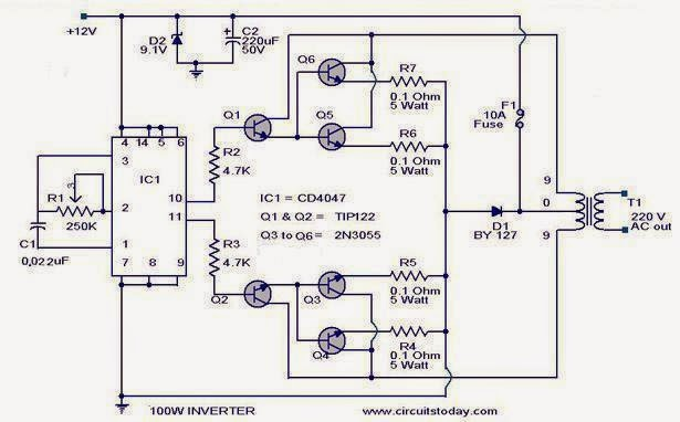Car Inverter Circuit Diagram | How To Make A 200 Watt Transformerless Inverter Circuit Circuit