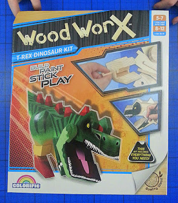 Wood Worx wooden dinosaur craft kit review and giveaway