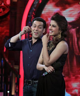 Priyanka Chopra on the sets of Bigg Boss to promote Krrish with Salman Khan