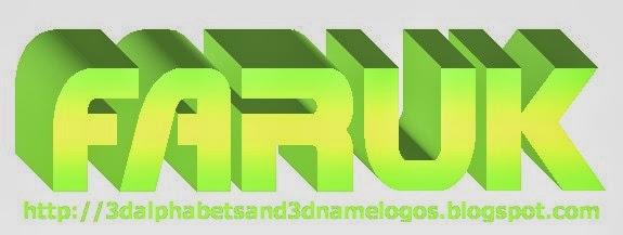 3d name logos faruk 3d name logo