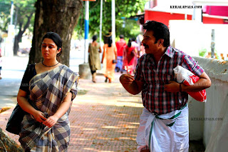 Mammootty and Charmy in Thappana
