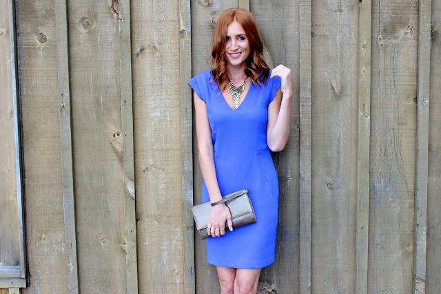 Blue dress- Winery Wedding Attire