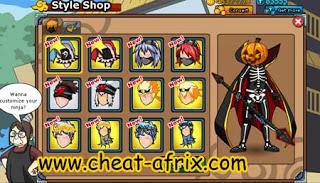 Cheat Ninja Saga 2013 Open Hair Style