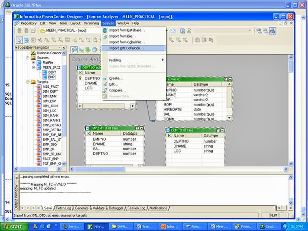 How to create an xml file from a relational file table for Table design in xml