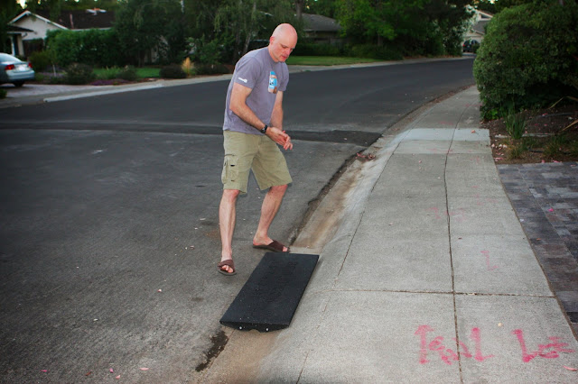 HomeCrunch: A Quick and Easy Driveway Apron – Thumbs Up for the Rubber BRIDJIT Curb Ramp