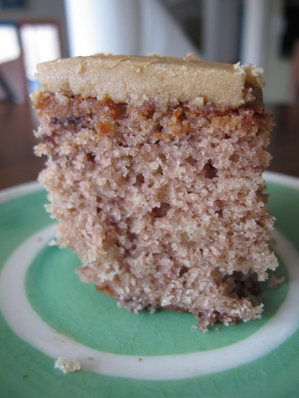 Jam Cake With Caramel Icing
