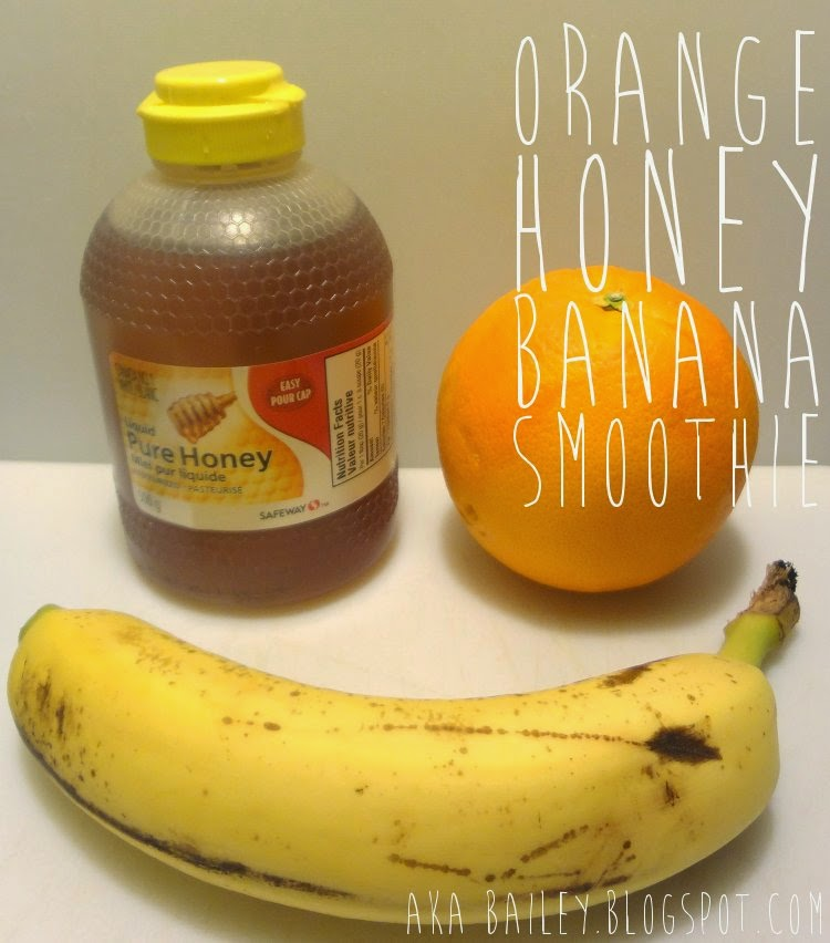 Orange Honey Banana Smoothie recipe from aka Bailey