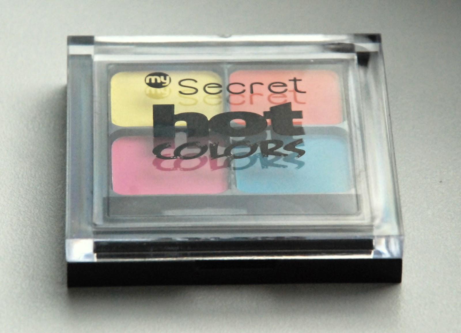 Neonowy makijaż i paletka My Secret.