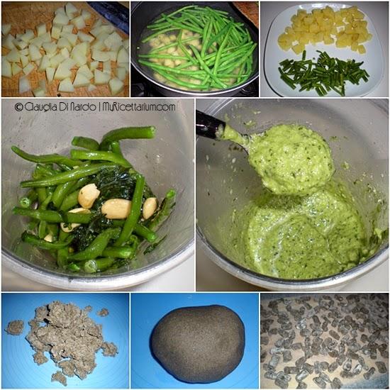 Gnocchetti di grano arso con pesto di fagiolini e patate