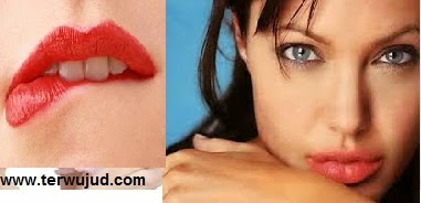 Bibir Merah-Lipstik