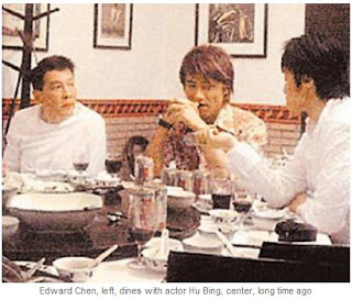 ayah edison chen dengan aktor hu bing
