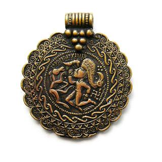 """Кулон """"Брактеат"""" купить ювелирные украшения из бронзы"""