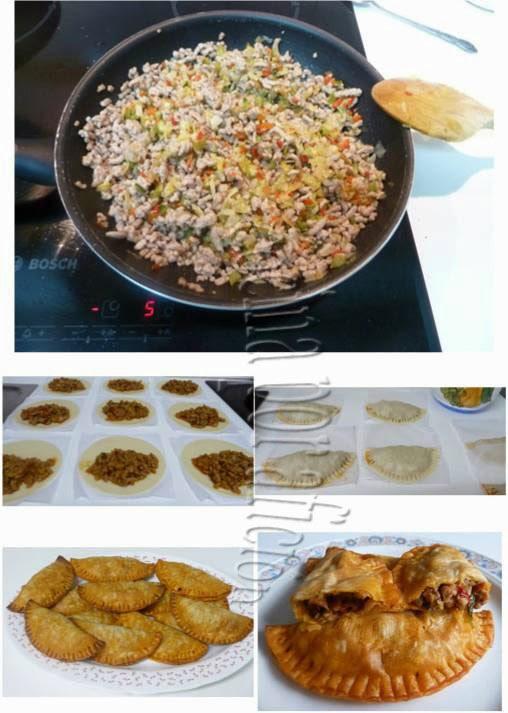 empanadillas carne, horno