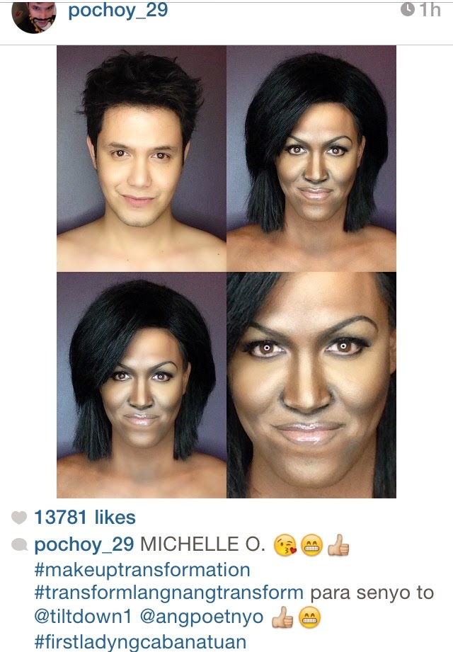 Insta Scoop: Paolo Ballesteros' Makeup Transformation to Michelle Obama