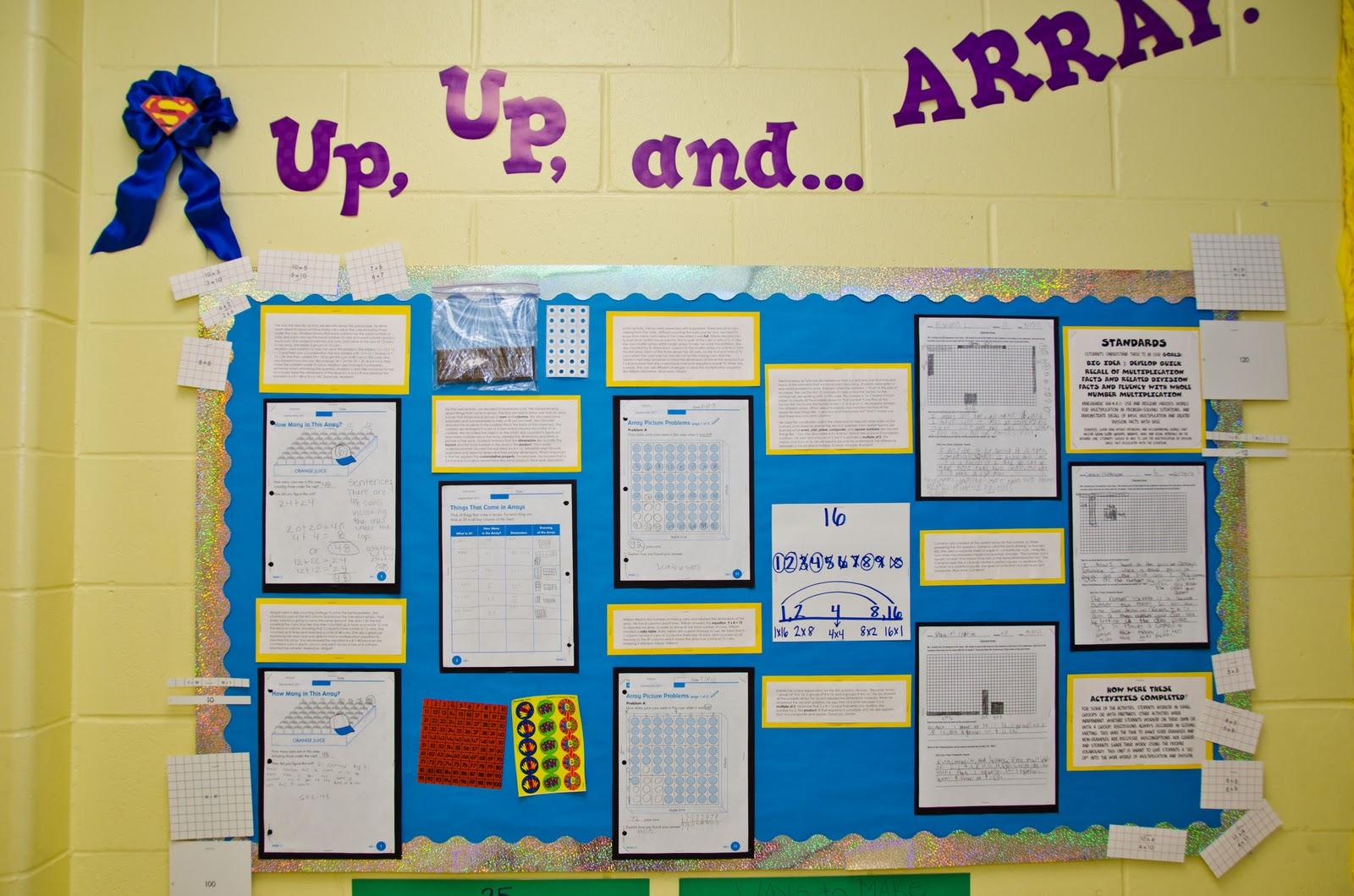 Showcasing Student Success: 4th Grade - Math Bulletin Board