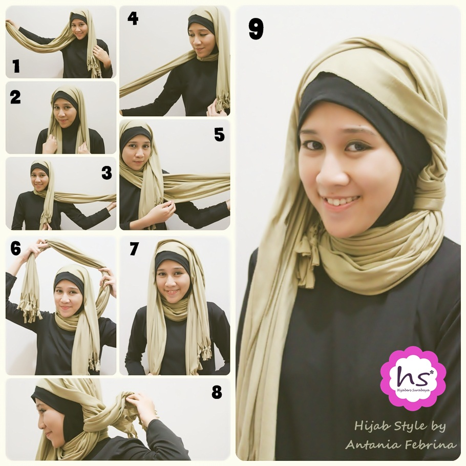 Cara Modis Simple Hijab Tutorial Berjilbab Berhijab Modern