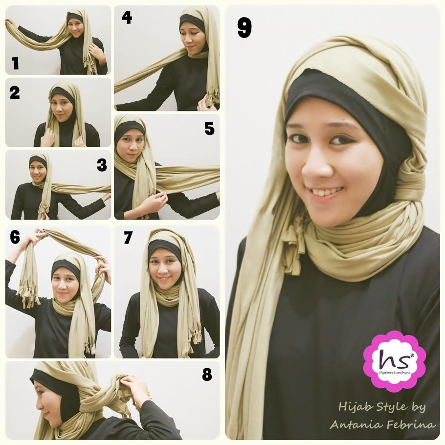 Cara Modis Simple Hijab Tutorial 2