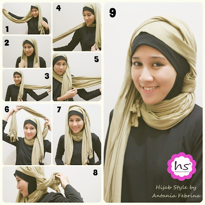 Modis Simple Hijab Tutorial 2 - Cara Berjilbab & Berhijab Modern Modis