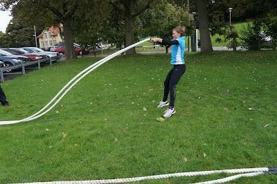 Battling rope är sjukt jobbigt!