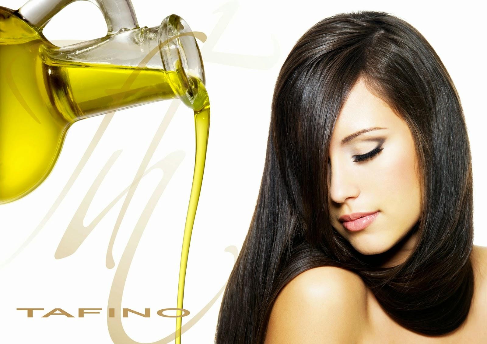 ilustrasi rambut minyak zaitun