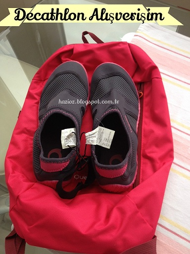 Arpenaz (Pembe Quechua) ile Aquashoes  Tribord spor ayakkabı