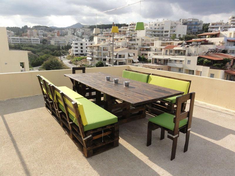 Mesa y sillas para terraza con palets - Mesas de terraza ...