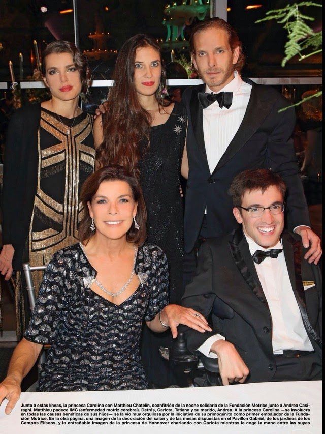 Andrea Casiraghi and his family