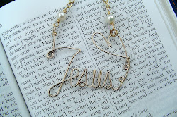 """JESUS"" written in gold filled wire, necklace"