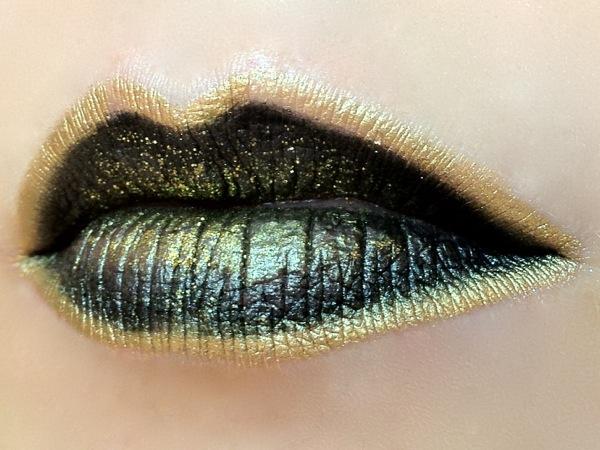 yellow glitter lips - photo #20
