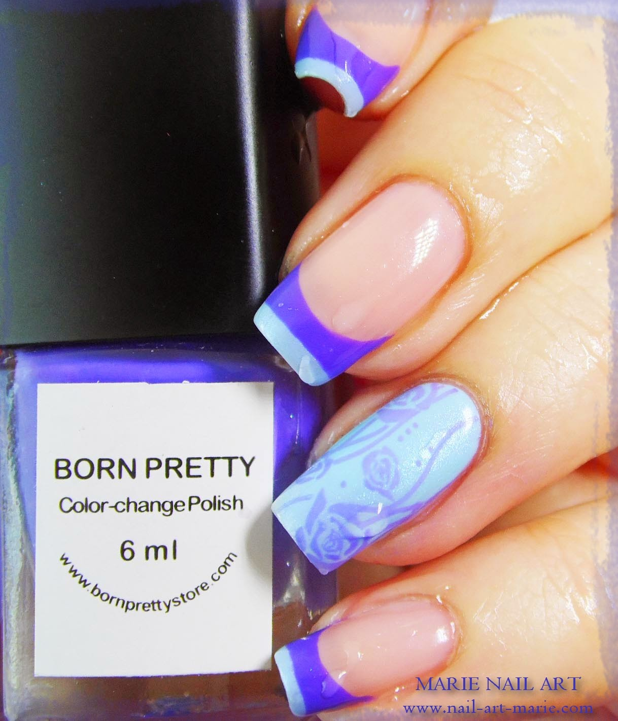 Nail Art Double French Thermique5