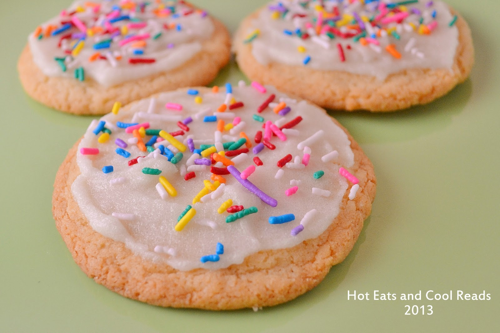 Hot Eats and Cool Reads: The Best Frosted Sugar Cookies Recipe