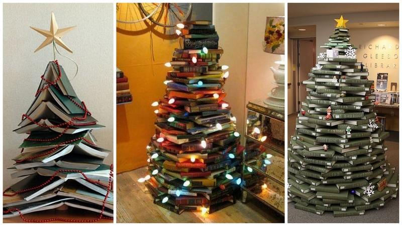 Nieve en noviembre rboles de navidad - Arbol de navidad con libros ...