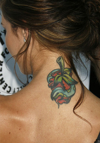tattoos on back of neck. Audrina Patridge Tattoo on Neck