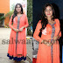 Poorna Orange Chiffon Salwar