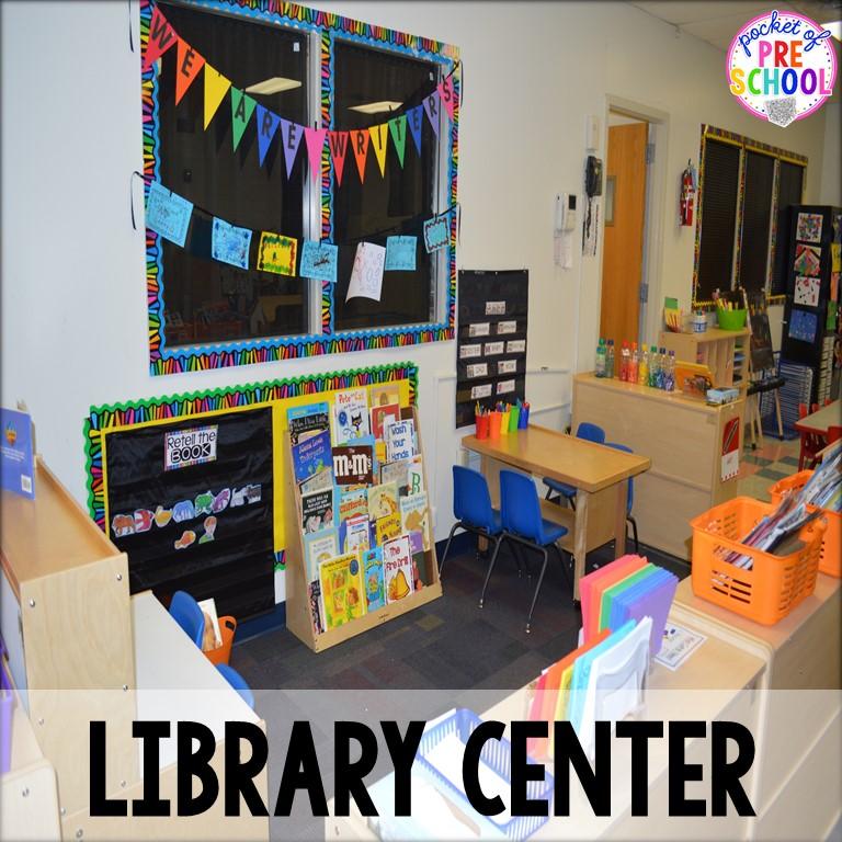 Classroom Library Ideas Kindergarten : Classroom reveal and a freebie pocket of preschool