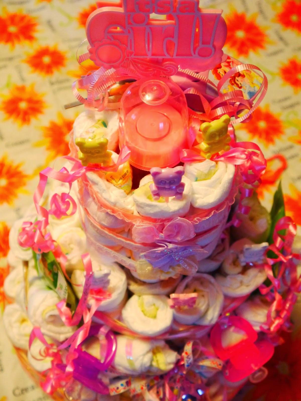 How to make a Diaper Cake 1/28/2015
