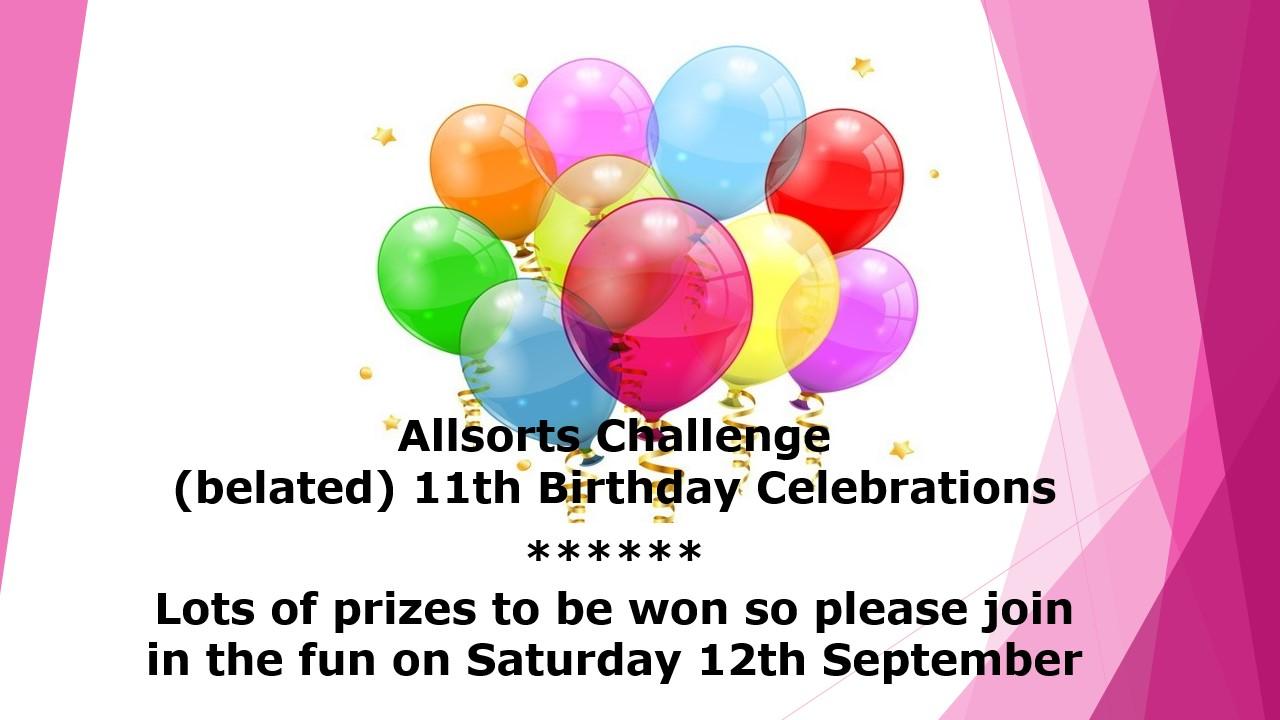 Allsorts Challenge Celebrations